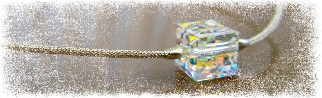 Bracelet en soie japonaise et Crystal de Swarovski